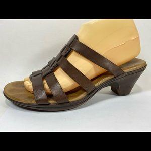 Clarks Bendables Leather Slide Sandals Women's 9M